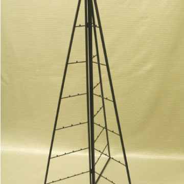 64 cm. Black metal triangular tree