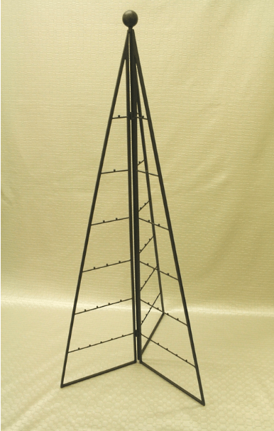 64 cm. Black metal triangular tree