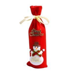 Snowman wine bottle carrier