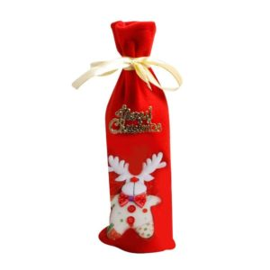 Wine bottle cover with Reindeer motif